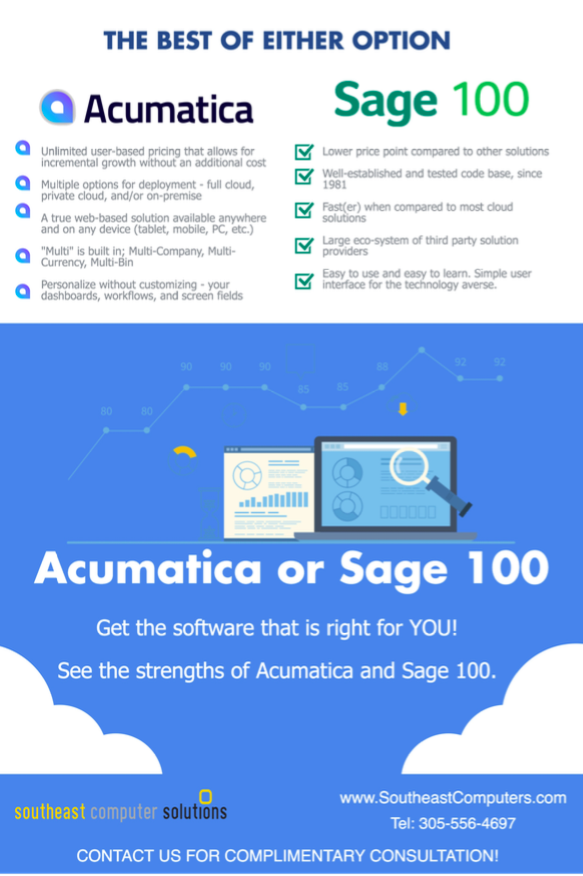 Which is better - Acumatica or Sage 100